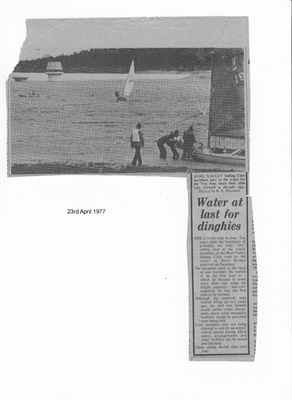 Sunday 23rd April 1977 – Water at last for dinghies